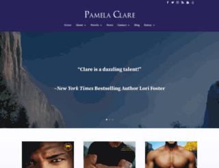 pamelaclare.com screenshot