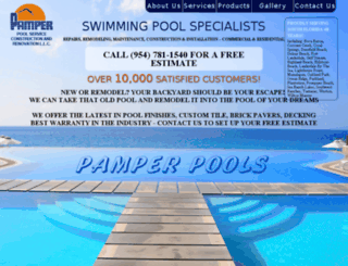 pamperpools.com screenshot
