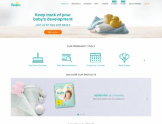 pampers.co.za screenshot