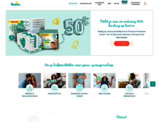 pampers.nl screenshot