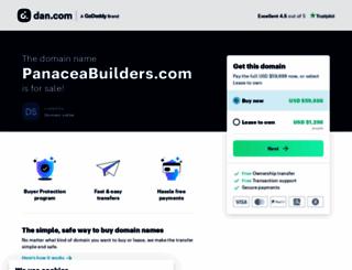panaceabuilders.com screenshot