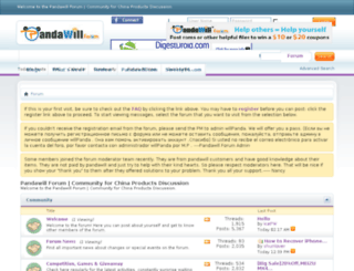 pandawillforum.com screenshot