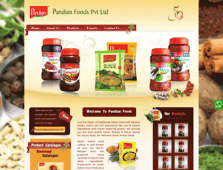 pandianfoods.com screenshot