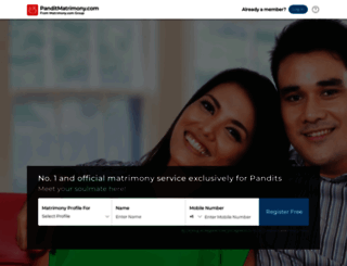 panditmatrimony.com screenshot
