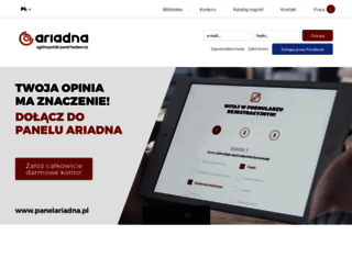 panelariadna.pl screenshot