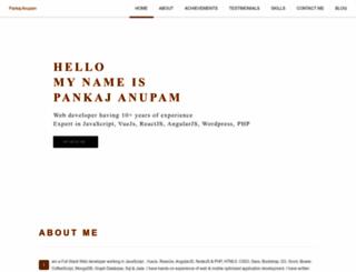 pankajanupam.in screenshot