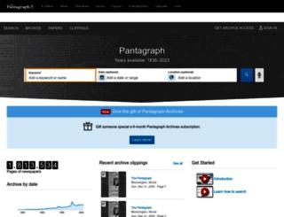 pantagraph.newspapers.com screenshot