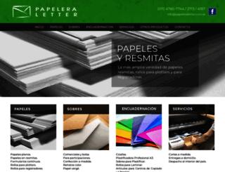 papeleraletter.com.ar screenshot