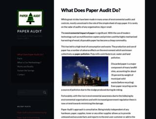paperaudit.wordpress.com screenshot