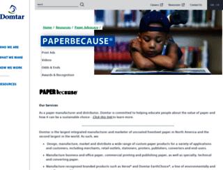 paperbecause.com screenshot