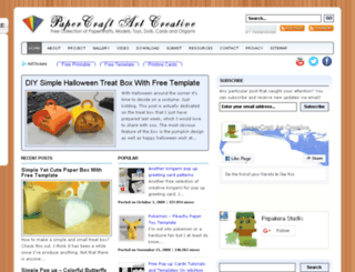 papercraftprintable.com screenshot