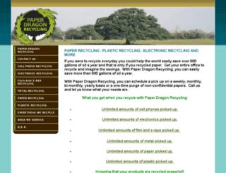 paperdragonrecycling.com screenshot