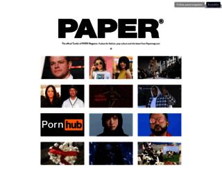 papermagazine.tumblr.com screenshot