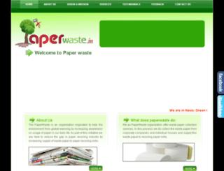 paperwaste.in screenshot
