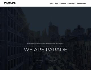 paradeinc.com screenshot