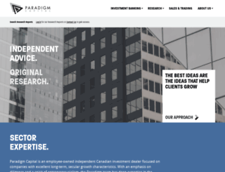 paradigmcapinc.com screenshot