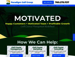 paradigmgolfgroup.com screenshot