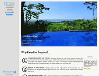 paradisebreezes.com screenshot