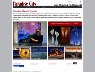 paradisecityarts.com screenshot