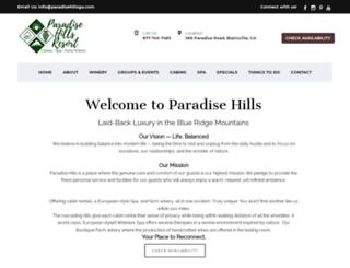 paradisehillsresort.com screenshot