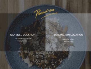paradisorestaurant.com screenshot