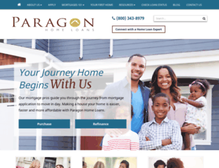 paragonhomeloans.com screenshot