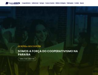 paraibacooperativo.coop.br screenshot