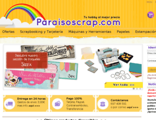 paraisoscrap.com screenshot