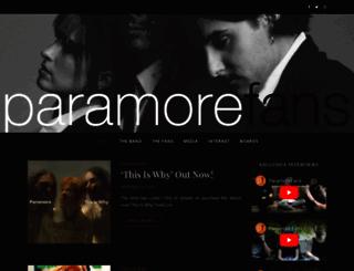 paramorefans.com screenshot
