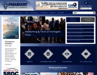 paramountchamber.com screenshot