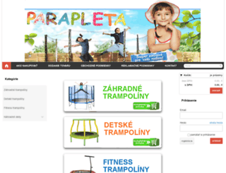 parapleta.sk screenshot