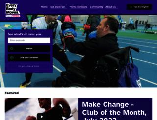 parasport.org.uk screenshot