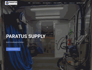 paratusfoam.com screenshot