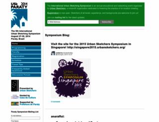 paraty2014.urbansketchers.org screenshot