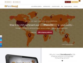 parcelbound.com screenshot