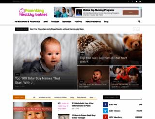 parentinghealthybabies.com screenshot