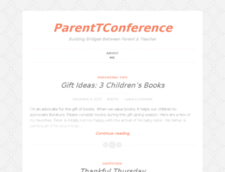 parenttconference.wordpress.com screenshot