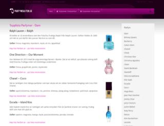 parfymsajten.se screenshot