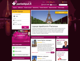 pariisiliput.fi screenshot