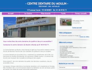 Schön Paris Centre Dentaire Du Moulin.fr Screenshot
