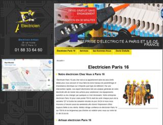 paris16.electriciendepannageelectrique.com screenshot
