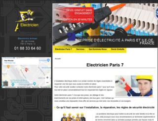 paris7.electriciendepannageelectrique.com screenshot