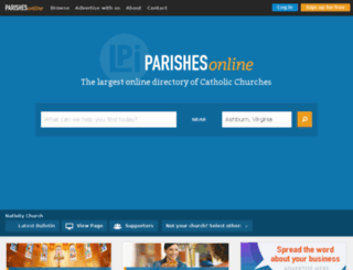 parishesonline.net screenshot