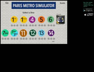 parismetrosimulator.appspot.com screenshot