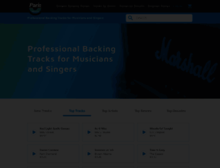 parismusic.co.uk screenshot