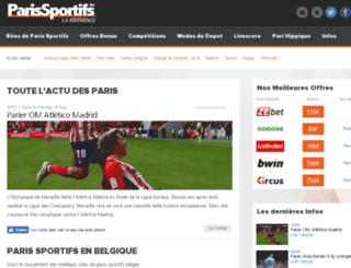 parissportifs.be screenshot