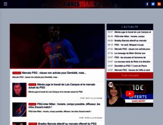 paristeam.fr screenshot