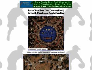 parkcirclediscgolf.com screenshot