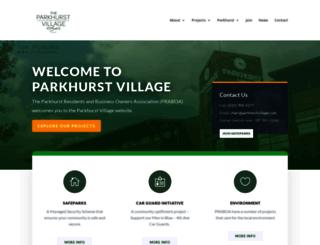 parkhurstvillage.com screenshot