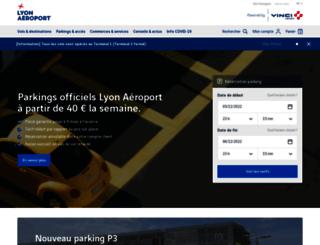 parking.lyonaeroports.com screenshot